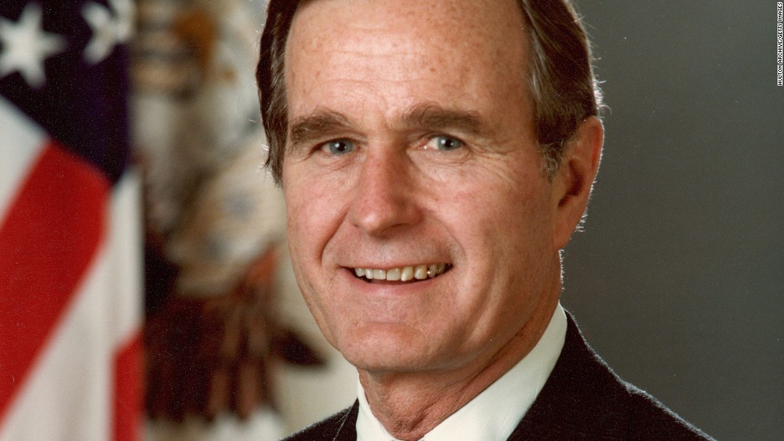 George Herbert Walker Bush poses for his official photograph as President of the United States. Bush has served in many roles in government, the highest being 41st president.