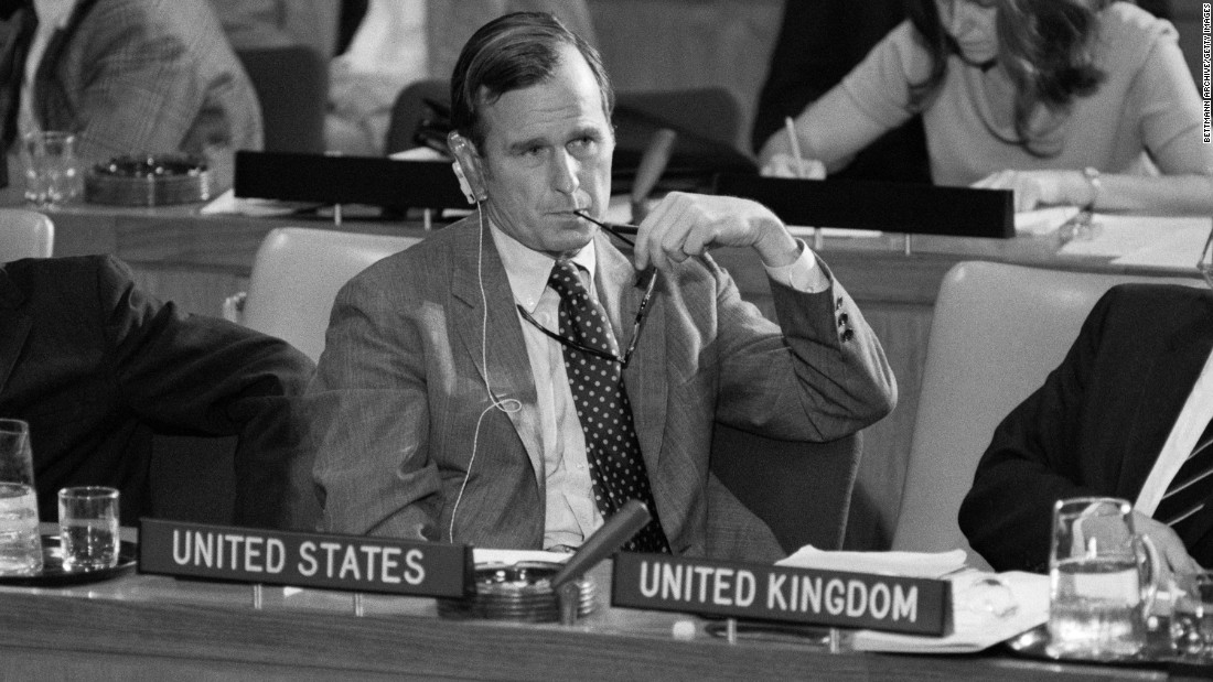Bush represents the United States at the United Nations in 1971. He served as US Ambassador from that year until 1973.
