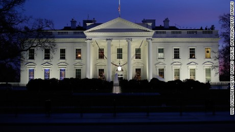 WASHINGTON, DC - DECEMBER 06:  The White House is shown at dusk December 6, 2015 in Washington, DC. U.S. President Barack Obama is scheduled to address the nation this evening from the Oval Office on his plans to battle the threat of terror attacks and defeating ISIL in the wake of last week's attack in San Bernardino, California.  (Photo by Win McNamee/Getty Images)