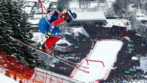 Racers will be throwing themselves down the mountain at speeds of up to 80 miles-per-hour, and no event is more breathtaking than the classic Hahnenkamm race on the feared Streif course in Kitzbuhel, Austria.