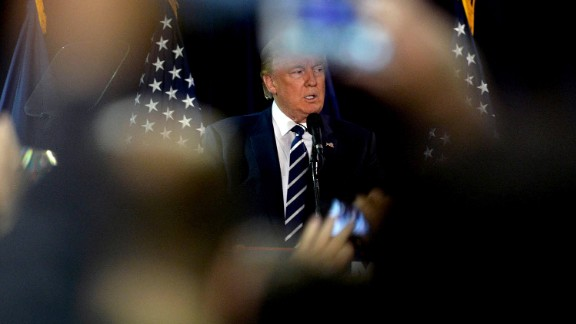 Republican presidential nominee Donald Trump speaks at a rally on October 28, 2016, in Manchester, New Hampshire.