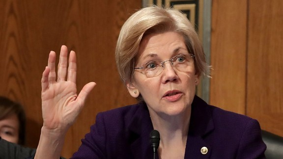 Sen. Elizabeth Warren (D-MA) requests a second round of questions during the confirmation hearing for Betsy DeVos, President-elect Donald Trump's pick to be the next Secretary of Education, in the Dirksen Senate Office Building on Capitol Hill  January 17, 2017 in Washington, DC.