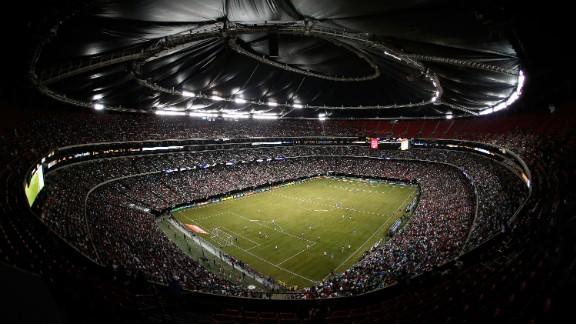 The Georgia Dome hosts soccer