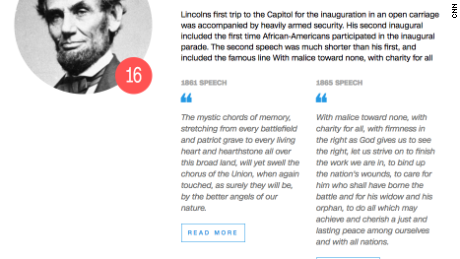 And here's a taste from one of the greats -- both of Lincoln's addresses are highly regarded by historians