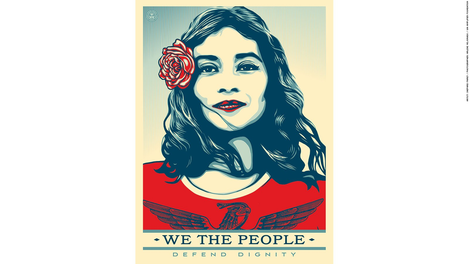 shepard fairey reveals new posters to protest trump cnn style