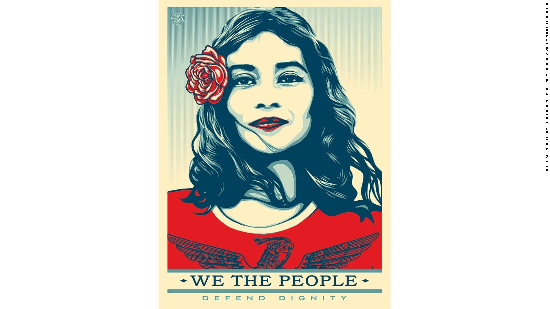 Shepard Fairey Reveals New Posters To Protest Trump   CNN Style  Missing People Posters