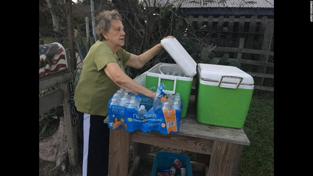 "Pamela Taylor, 88, has lived in Brownsville, Texas, since 1947. Taylor says she has had people from ""all over the world"" arrive on her property, and she says she has even found them in her living room. Every night, she fills a cooler in front of her house with bottles of water for migrants who made the journey, Border Patrol officers, or anybody else who finds themselves near the front steps of her house."