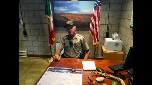 """Michael Ryan has worked as a ranger at Big Bend National Park since 1999, and 10 years as a river guide in the region previously. """"It's not just one border, it changes depending on where you are,"""" he told CNN."""