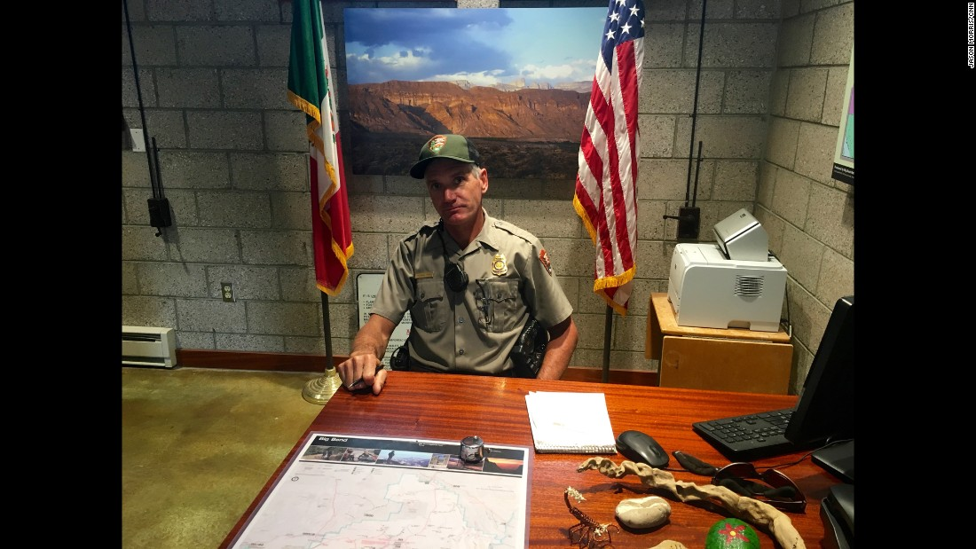 "Michael Ryan has worked as a ranger at Big Bend National Park since 1999, and 10 years as a river guide in the region previously. ""It's not just one border, it changes depending on where you are,"" he told CNN."