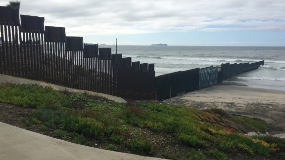 """The westernmost part of the U.S.-Mexico border overlooks the Pacific Ocean, inside California's Border Field State Park outside San Diego, and adjacent to a public beach in Tijuana, Mexico. This area is known as Friendship Park/El Parque de la Amistad, a historic meeting place where generations from both nations have gathered to visit with family and friends """"across the line."""""""