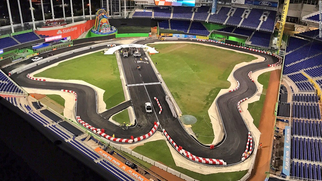 How do you turn a baseball stadium into a racetrack cnn for Classic house tracks