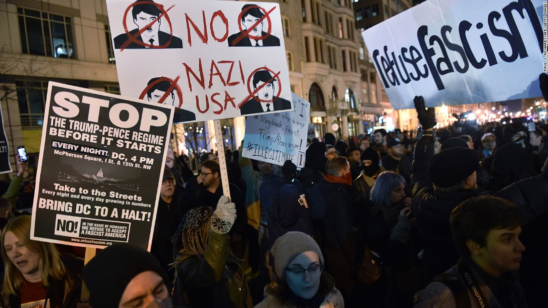 Its Not Just Demonstrators Saying >> Inauguration Protests Police Injured More Than 200 Arrested