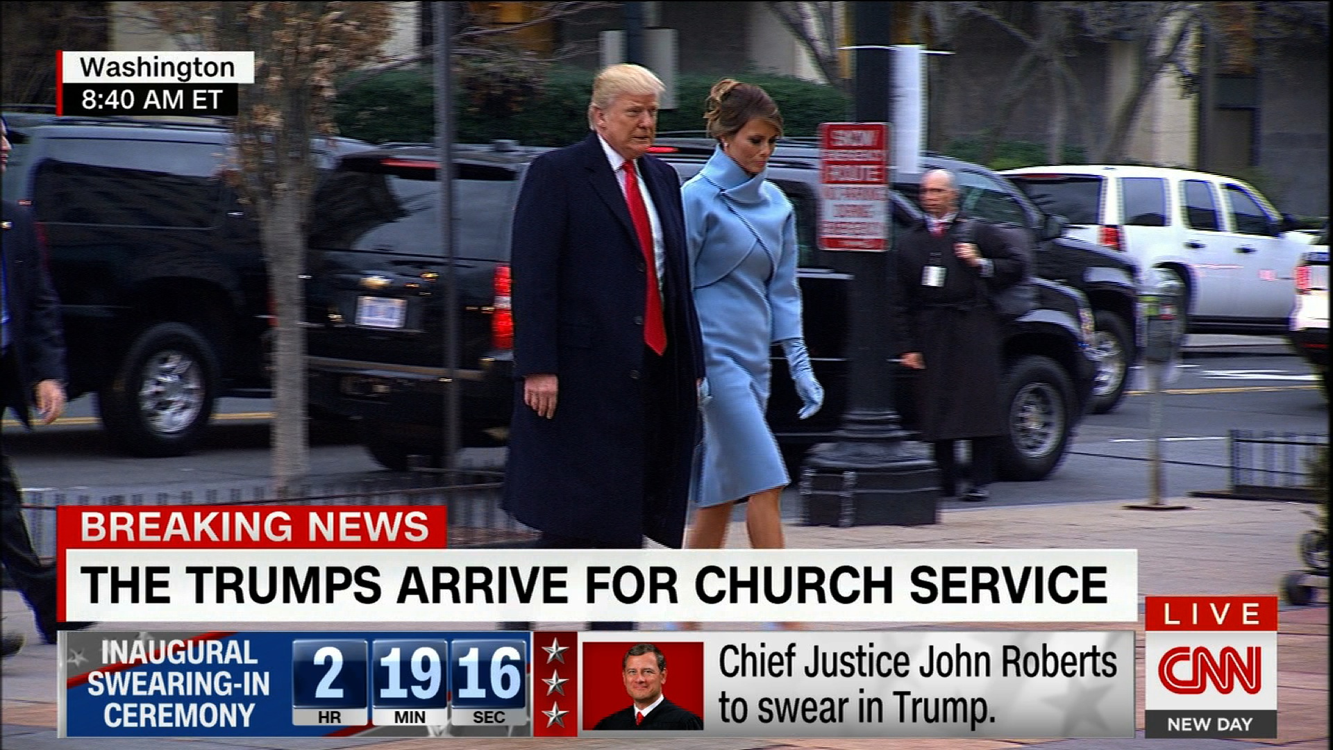 First look at Trump on his big day - CNN Video
