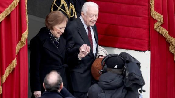 Former President Jimmy Carter and wife Rosalynn