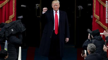President Elect Donald Trump arrives on the West Front of the U.S. Capitol on January 20, 2017 in Washington, DC. In today's inauguration ceremony Donald J. Trump becomes the 45th president of the United States.