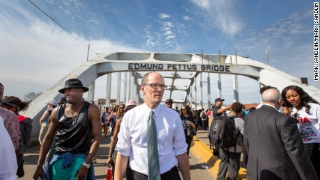 Selma, Alabama, 50th anniversary of Bloody Sunday, Secretary Perez Crossing the Edmund Parrish Bridge with thousands of other participants in the Selma 50th celebration