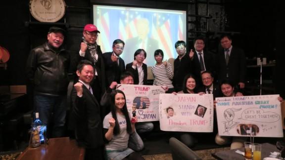 Japanese conservatives celebrate Trump