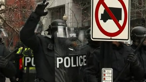 inauguration protests police