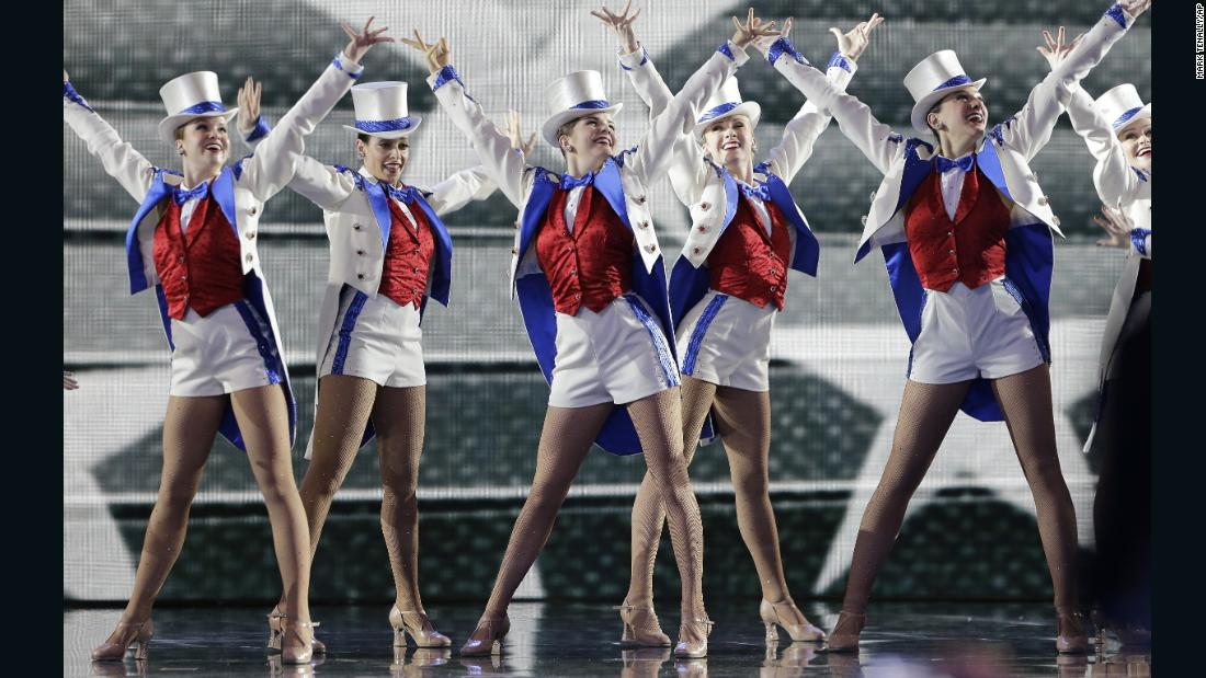 The Radio City Rockettes perform at the Freedom Ball at the Washington Convention Center.
