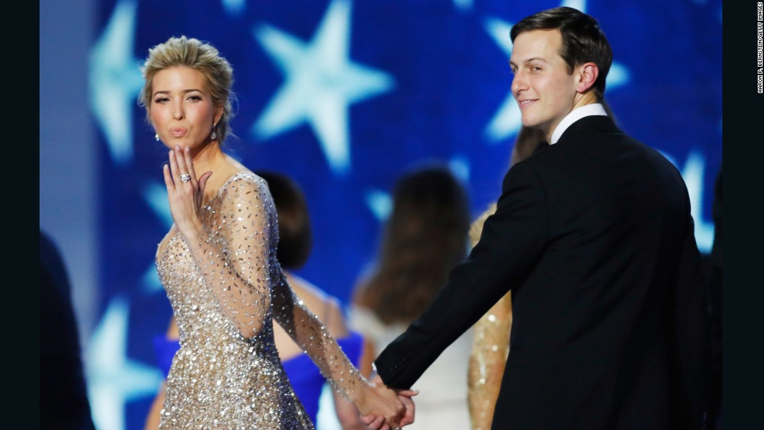 Ivanka Trump dances with her husband, Jared Kushner, at the Freedom Inaugural Ball.