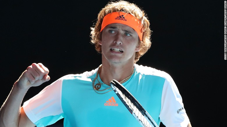 Zverev is currently ranked third in the world