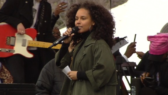 Alicia Keys slams at the Women's March on Washington