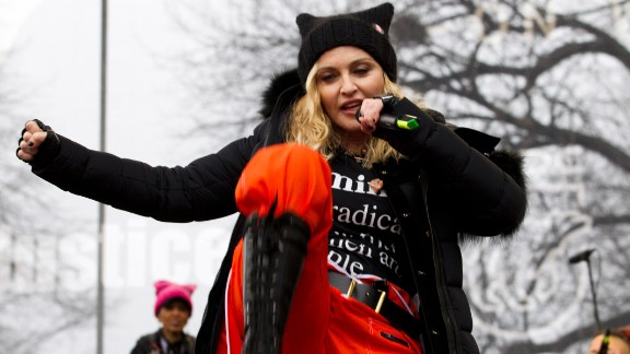 Madonna performs during the Women's March on Washington, Saturday, January 21, 2017 in Washington.