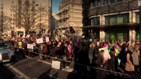 Trump protesters take to the streets in London