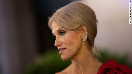 Kellyanne Conway, senior adviser to Donald Trump, speaks on January 19, 2017, in Washington, DC.