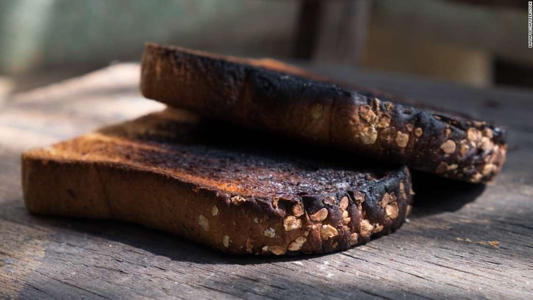 "Burnt toast is another source of excess acrylamide as the food has gone past being 'golden' in color. In their new campaign, <a href=""https://www.food.gov.uk/news-updates/news/2017/15890/families-urged-to-go-for-gold-to-reduce-acrylamide-consumption"" target=""_blank"">'Going for Gold,</a>' the UK's Food Standards Agency (FSA) highlight the importance of monitoring food color and cooking time."