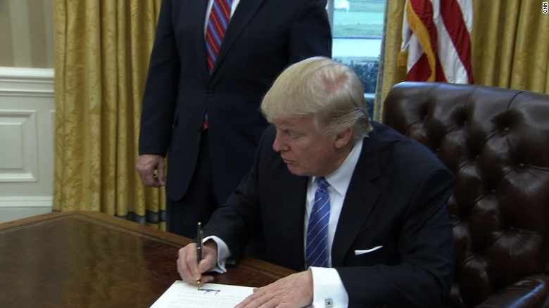 Trump signs 3 executive orders