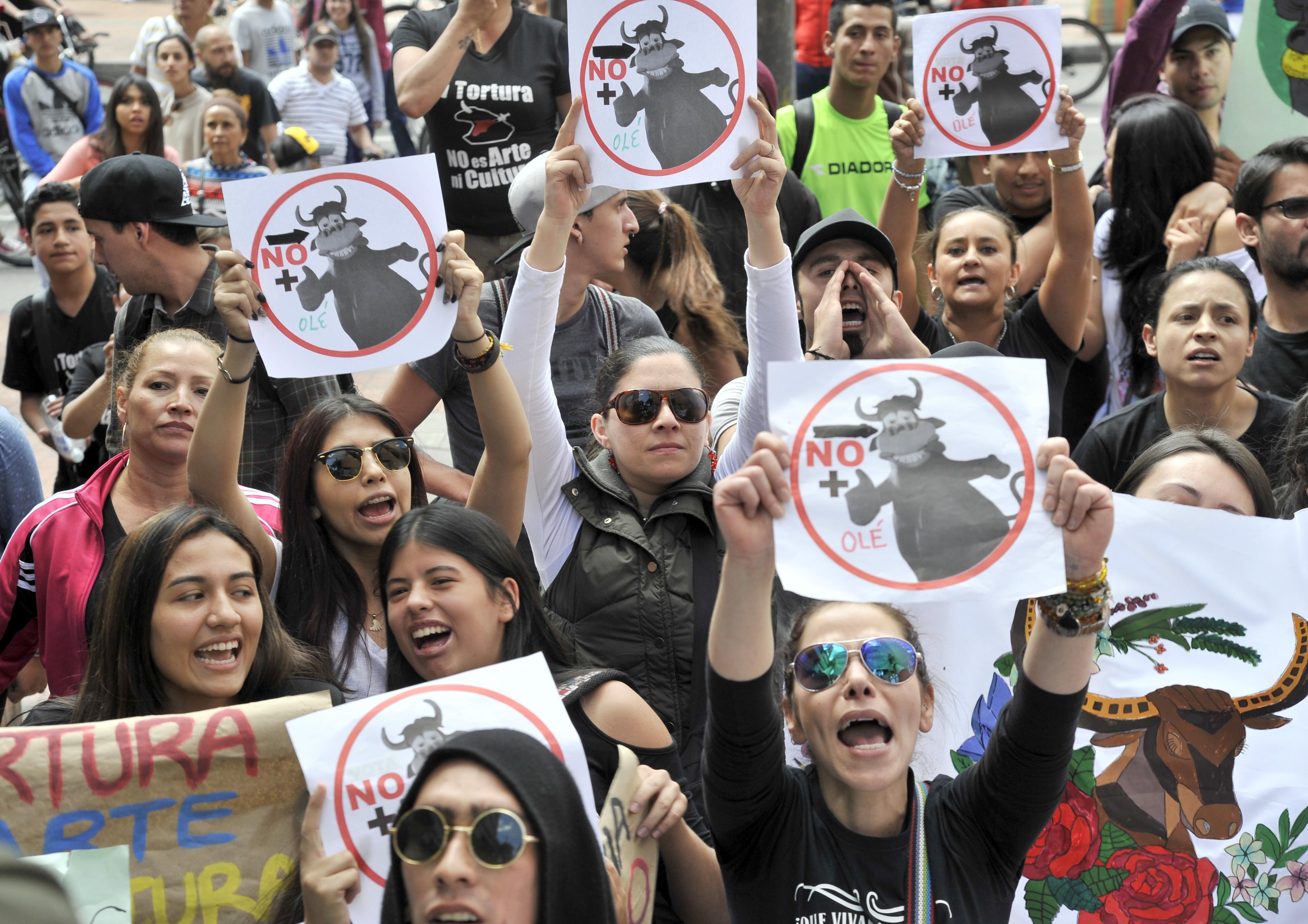 protesta de toros