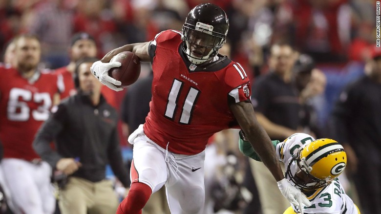 Julio Jones Sprints After A Catch For 73 Yard Touchdown Against The Green Bay
