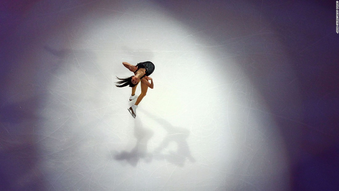 Ashley Wagner performs Sunday, January 22, during the exhibition gala of the U.S. Figure Skating Championships. Wagner finished second to Karen Chen in the overall competition.