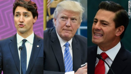 Trump agrees 'not to terminate NAFTA at this time'