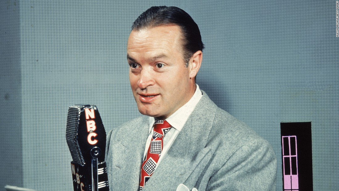 As with many comics, the British-born Bob Hope got his start in vaudeville before he took his comedy routines to radio, movies and TV. But perhaps his most enduring legacy is in setting the standard for the entertainer's vital role within American culture; during World War II, Hope began traveling specifically to entertain American soldiers, something he continued through various conflicts well into the '90s.