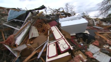 Search for people missing after tornadoes