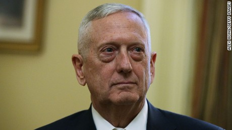 WASHINGTON, DC - DECEMBER 07:  U.S. Defense Secretary-nominee, retired Marine Gen. James Mattis, is seen during a meeting with Senate Majority Leader Sen. Mitch McConnell (R-KY) December 7, 2016 at the Capitol in Washington, DC. Mattis, who had retired from the military in 2013, will need a waiver from Congress because current federal law bars military personnel who have retired less than seven years from taking the position.  (Photo by Alex Wong/Getty Images)