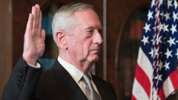 Retired Marine Gen. James Mattis, President Trump