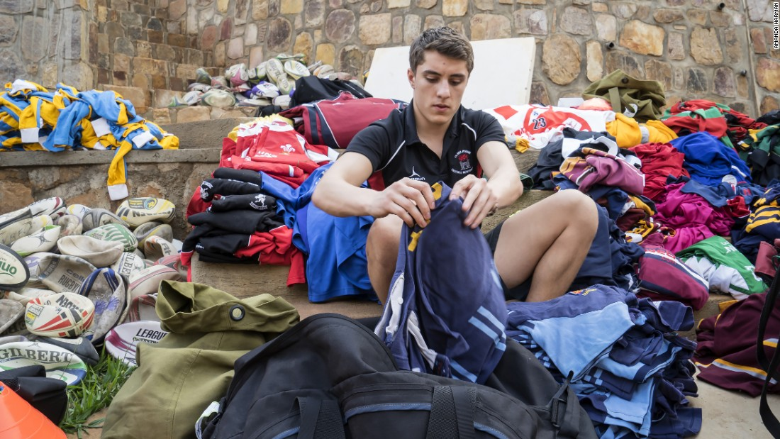 Volunteers from the Voluntary Service Overseas charity have made regular trips to the country with donated rugby kit.
