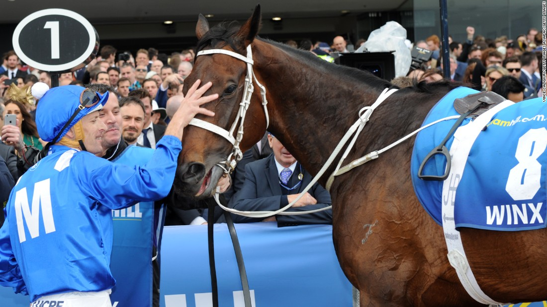 Winx won the Cox Plate for a second time in October.
