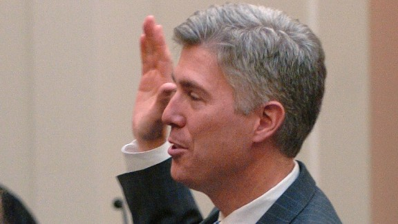 Swearing in of Coloradan Neil M. Gorsuch as the newest member of the, United States Court Of Appeals For The Tenth Circuit. (Denver Post Photo By John Prieto)