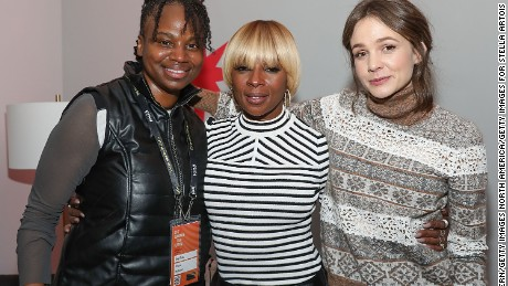 Dee Rees, Mary J. Blige and Carey Mulligan at the 'Mudbound' party during the Sundance Film Festival on January 21, 2017 in Park City, Utah.  (Photo by Rick Kern/Getty Images for Stella Artois)