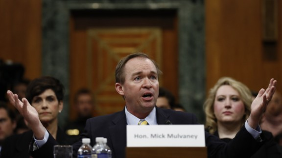 Mulvaney testifies before the Senate Budget Committee in January. He didn