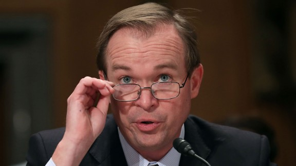 Rep. Mick Mulvaney, R-South Carolina, testifies before the Senate Homeland Security and Governmental Affairs Committee during his confirmation hearing to be the next director of the Office of Management and Budget on Capitol Hill on January 24, 2017 in Washington.