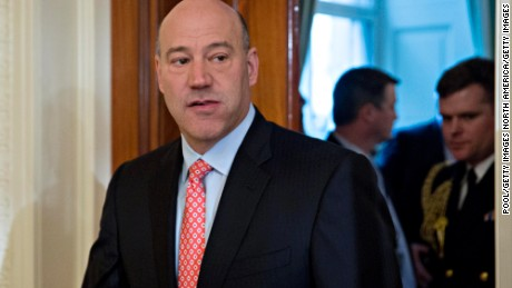 "WASHINGTON, DC - JANUARY 22: Gary Cohn, director of the U.S. National Economic Council, arrives to a swearing in ceremony of White House senior staff in the East Room of the White House on January 22, 2017 in Washington, DC. Trump today mocked protesters who gathered for large demonstrations across the U.S. and the world on Saturday to signal discontent with his leadership, but later offered a more conciliatory tone, saying he recognized such marches as a ""hallmark of our democracy."" (Photo by Andrew Harrer-Pool/Getty Images)"