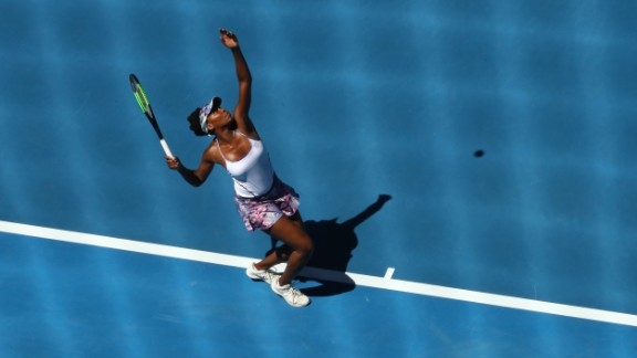 Venus Williams -- who became the Australian Open's oldest women's semifinalist in the Open Era at the age of 36 after winning through against Anastasia Pavlyuchenkova on Tuesday -- will face Coco Vandeweghe of the U.S..