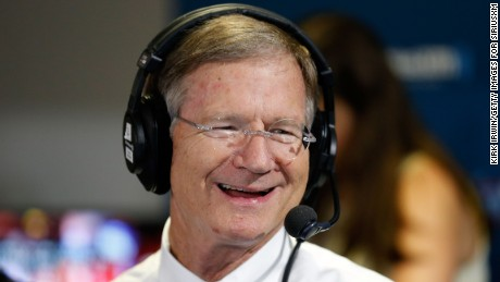 "Representative Lamar Smith of Texas sit down to talk with Andrew Wilkow on his show ""The Wilkow Majority"" at Quicken Loans Arena on July 20, 2016 in Cleveland, Ohio."