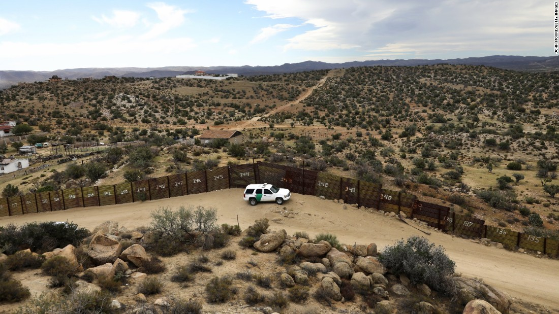 Trump wall What the USMexico border looks