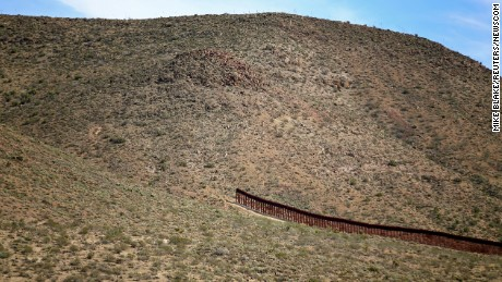 The fence along the nearly 2,000-mile border is not contiguous. Here is an abrupt gap in the fence in Jacumba, California.